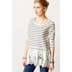 Anthro East Falls Lace Sweater Sunday in Brooklyn